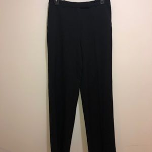 Armani Collezioni Sz 4 Black Textured Pants Career